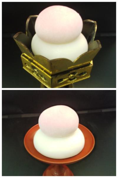 紅白鏡餅(仏壇開き、仏式結婚式用)180円~