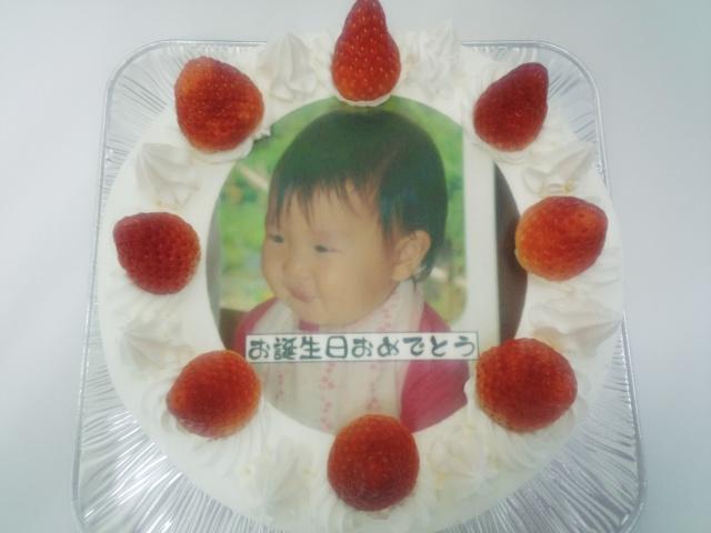 お好きなお写真でプリントケーキ作れます♪ 5号15センチ3400円~