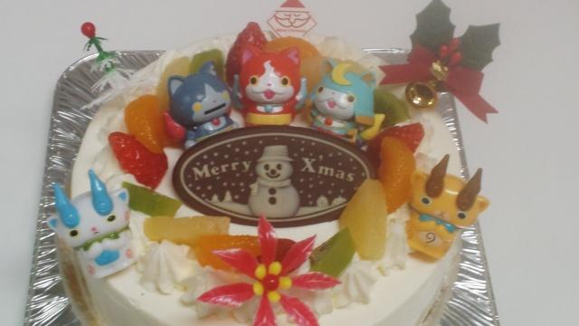 妖怪ウオッチクリスマスケーキ 5号3450円~